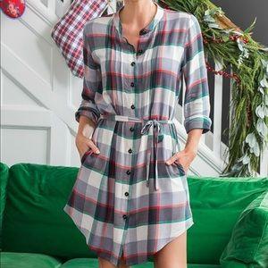 Matilda Jane Coming To Town Plaid Shirt Dress XS